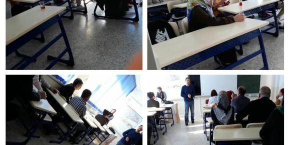 Sınıfımızın veli toplantısını yaptık