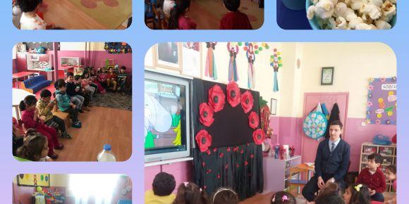 Ana sınıfı öğrencilerimize çizgi film karakterleri tanıtıldı.