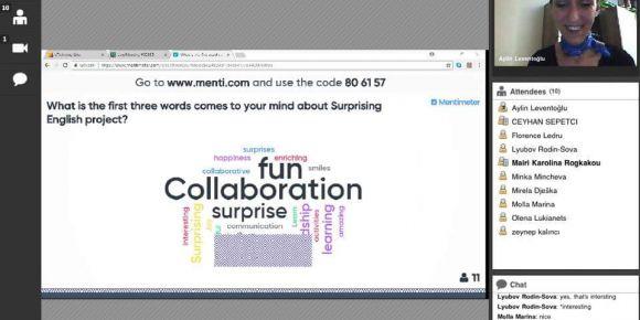 Surprising English eTwinning projesi online değerlendirme toplantısı