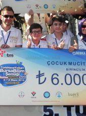 """Akhisar Gazi Ortaokulu'nun Çocuk Mucitleri """"Atık Kodu""""  ile Türkiye Birincisi oldu"""