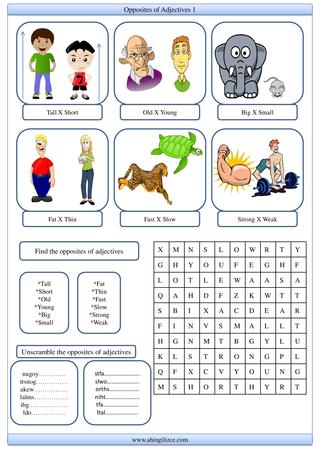 Opposites of Adjectives 1  - Zıt anlamlı sıfatlar 1