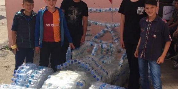 Edremit Zeytinli Ortaokulu geri dönüşüm projesi