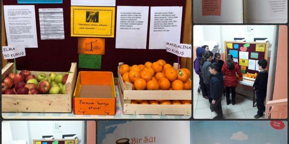Fatih Sultan Mehmet İmam Hatip Ortaokulu' nda dürüstlük manavı