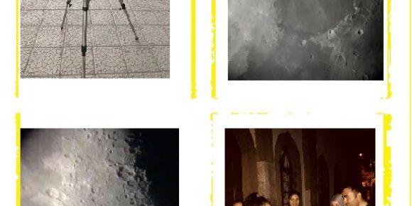 Ahmet Mecbur Efendi Bilim ve Sanat Merkezi Ay'ı gözlemliyor