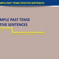 Simple Past Tense (Positive Sentences)