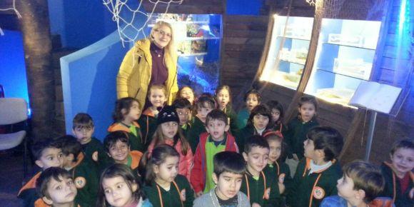Hailde Edip Adıvar Anaokulu Su Altı Hayvanları Müzesinde