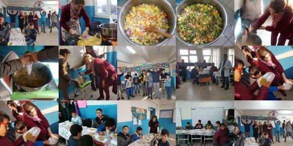 Beslenme Dostu Okul projesi kapsamında brokoli çorbası yaptık