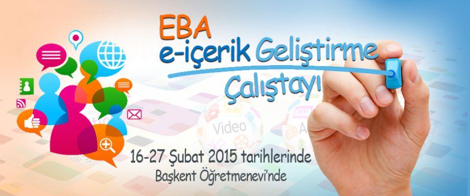 EBA e-içerik Gelistirme Çalıştayı