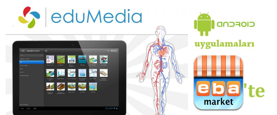 eduMedia Android Uygulamaları EBA Market te Yayında