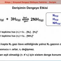 Kimyasal Dengeyi Etkileyen Faktörler - 1