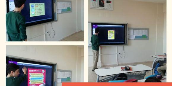 Emir cümleleri konusunu güvenli internet kullanımı ile ilgili cümleler kurarak öğrendik