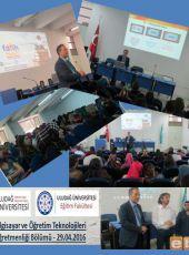 Bursa Uludağ Üniversitesi BÖTE Bölümünde Fatih Projesi tanıtımı yapıldı