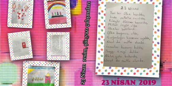 23 Nisan Yazı Şiir Resim Çalışmaları