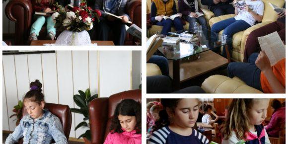 Kastamonu Abana  Atatürk öğrencileri okuma etkinliği