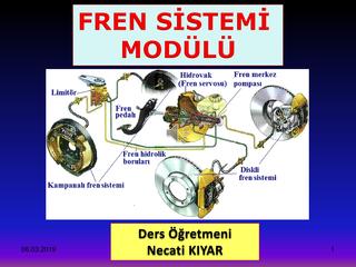 Fren Sistemi Modülü-Necati Kıyar