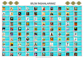 100 MÜSLÜMAN BİLİM ADAMI AFİŞ ÇALIŞMASI