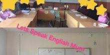 Hüseyin Temizel İmamhatip Ortaokul proje sınıfları Lets Speak English Mom projesinde