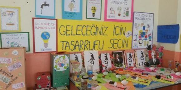 Narlıkuyu İlkokulunda 'Geleceğiniz İçin Tasarrufu Seçin'  eTwinning Proje Sergisi yapıldı