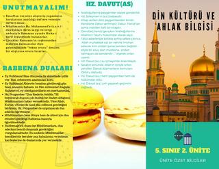 Din Kültürü Ve Ahlak Bilgisi 5. Sınıf 2. Ünite Özet Broşürü