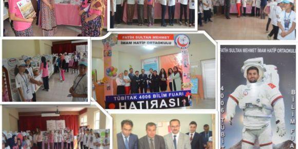 Boyabat Fatih Sultan Mehmet İmam Hatip Ortaokulu'nda Tübitak Bilim Fuarı heyecanı