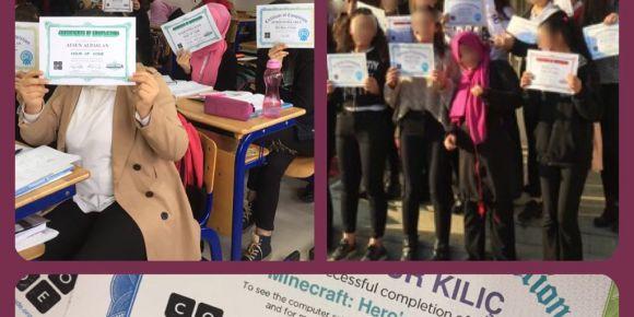 Pınarbaşı Mesleki ve Teknik Anadolu Lisesi öğrencileri kodlama ile tanıştı