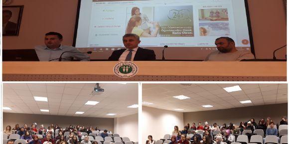 Kocaeli Üniversitesi öğrencilerine EBA tanıtımı