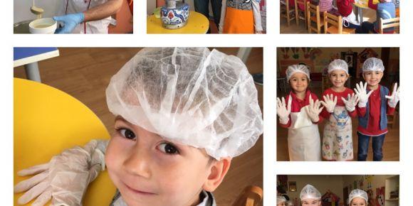 Ahçılık mesleği tanıtıldı 'Mutlu Çocuklar Atölyesi 'eTwinning projesi