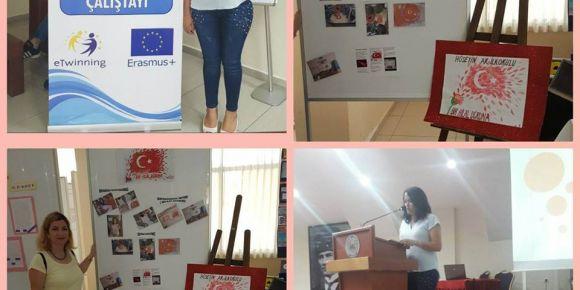 Hüseyin Ak İlkokulu Antalya il çalıştayında bir hilal uğruna projesi sergisi açıldı.