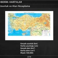 Haritalarda Uzunluk ve Alan Hesaplama
