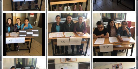 Tevfik İleri Ortaokulunda 8.sınıflar arası münazara yarışması düzenlendi