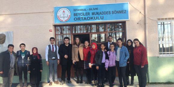 Cern'e kabul edilen ilk öğrenci Ahmet Serdar Mutluer okulumuzda söyleyişi gerçekleştirdi