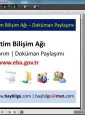 Beyoğlu'ndaki Öğretmenlere EBA'da Doküman Paylaşımı Semineri verildi.