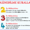 2,3 ve 4 ile Bölünebilme Kuralları Afişi