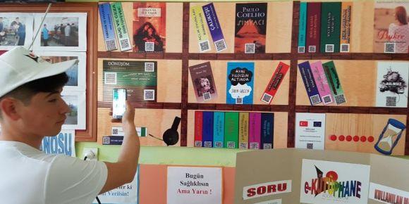 e-Kütüphane ilk defa Beyşehir Mesleki ve Teknik Anadolu Lisesi'nde