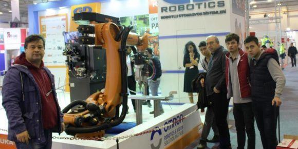 Nilüfer Özel Eğitim Metal Teknolojisi öğrencileri robotik kaynak sistemlerini inceledi