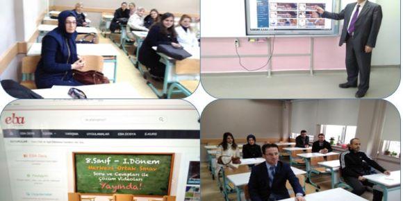 Bursa Yıldırım Belediyesi İmam Hatip Ortaokulunda EBA tanıtım semineri yapıldı