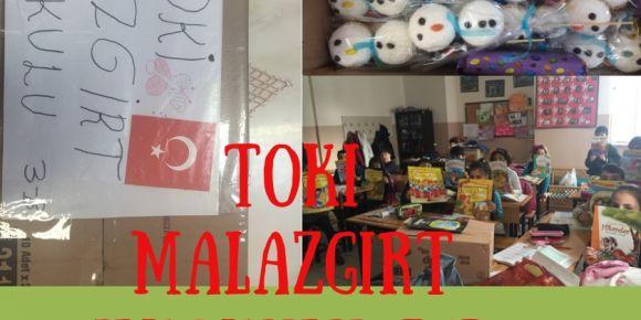 Toki Malazgirt İlkokulu 3/B sınıfı olarak arkadaşlarımıza hediye yolladık.