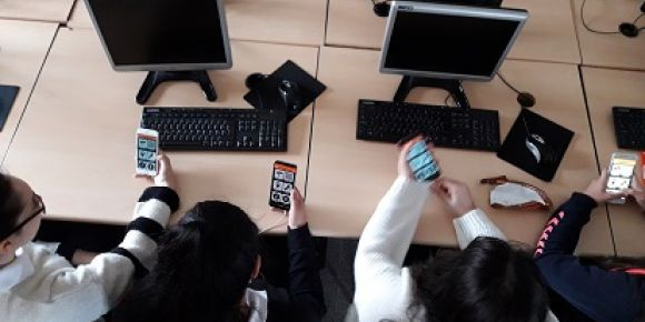Küçükçekmece Atatürk Mesleki ve Teknik Anadolu Lisesi actionbound uygulamasıyla tanışıyor