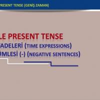 Simple Present Tense (Geniş Zaman - Zaman İfadeleri ve Olumsuz Cümle)