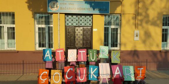 Bağarası Hürriyet İlkokulu 1-C sınıfı Atatürk Çocukları eTwinning projesinde