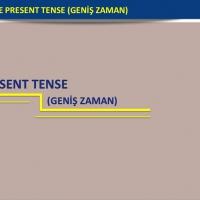 Simple Present Tense-Geniş Zaman