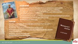 Ali Şir Nevaî ve eserleri anlatılmaktadır.