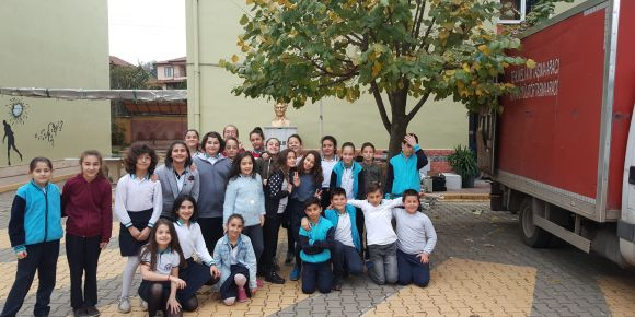 Derbent Ortaokulu elektronik atık toplama kampanyası