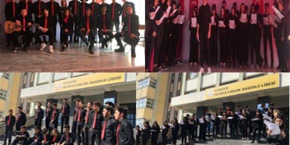 Kırşehir Merkez Hayriye Kımçak Anadolu Lisesi 12 Mart ve 18 Mart Çanakkale Zaferi Töreni