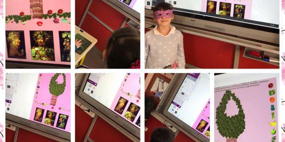 Öğrenciler Arcimboldo aracıyla görsel sanat çalışması yaptılar