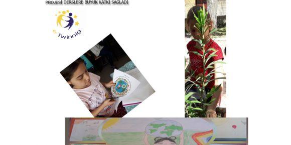 Dünya Yeşeriyor Hayaller Gerçekleşiyor projesi derslerde yer aldı