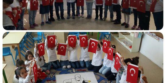 Mehmetçik Anaokulu 5-H şubesinde 18 Mart Çanakkale Şehitlerini Anma Günü etkinliği yapıldı