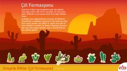Dünya' daki çöl formasyonu tanıtılmıştır.