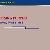 Expressing Purpose