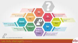 Soru ifade eden kelimelerle infografik çalışma.